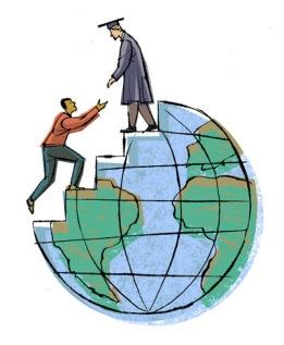 Editorial illustration - 3rd world education