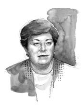 Female executive portrait for newspaper profile