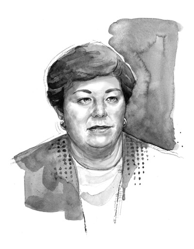 Female executive portrait for newspaper profile