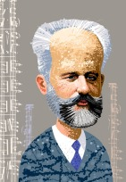 Portrait of the composer, Tchaikovsky