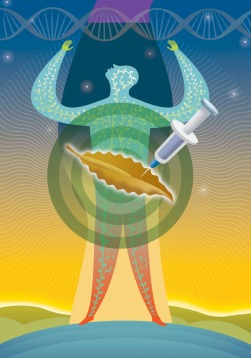 Magazine illustration on medical research