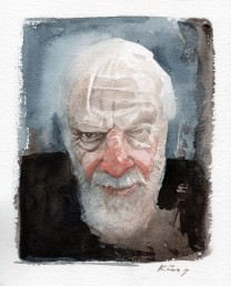 Stuart Marwick RIP - watercolour