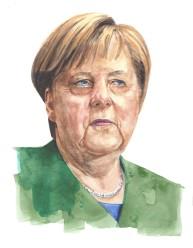 Angela Merkel - Watercolour